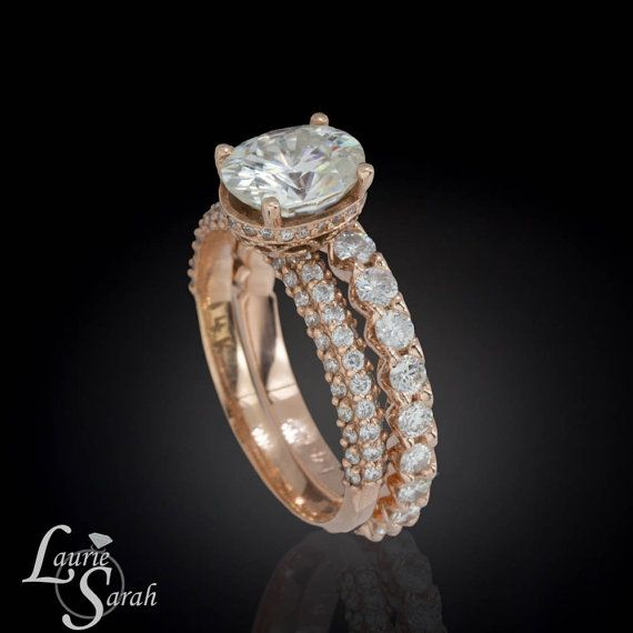 Forever Brilliant Moissanite Engagement Ring by LaurieSarahDesigns, $5572.50