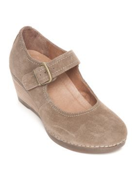 da7918f9b6c3 Dansko Women s Sandra Mary Jane Wedge - Taupe - 41 Eu   11 M Us