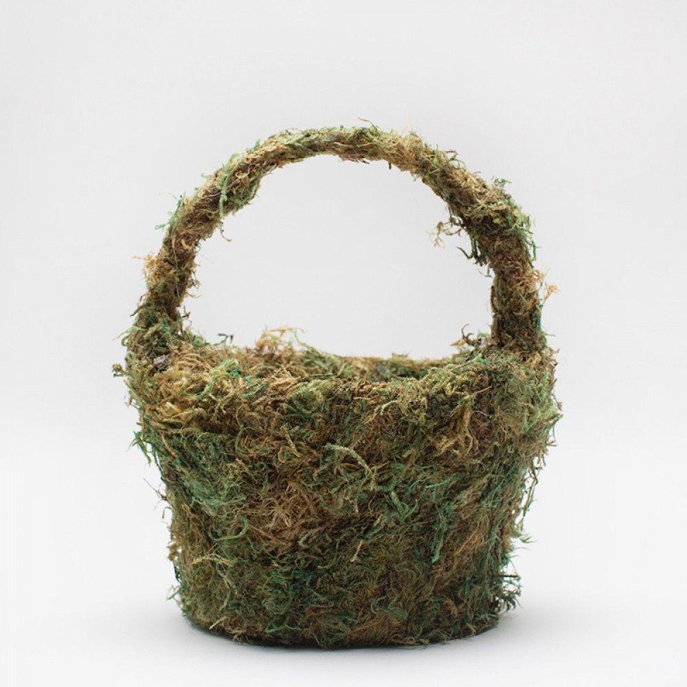 Moss Flower Girl Basket.