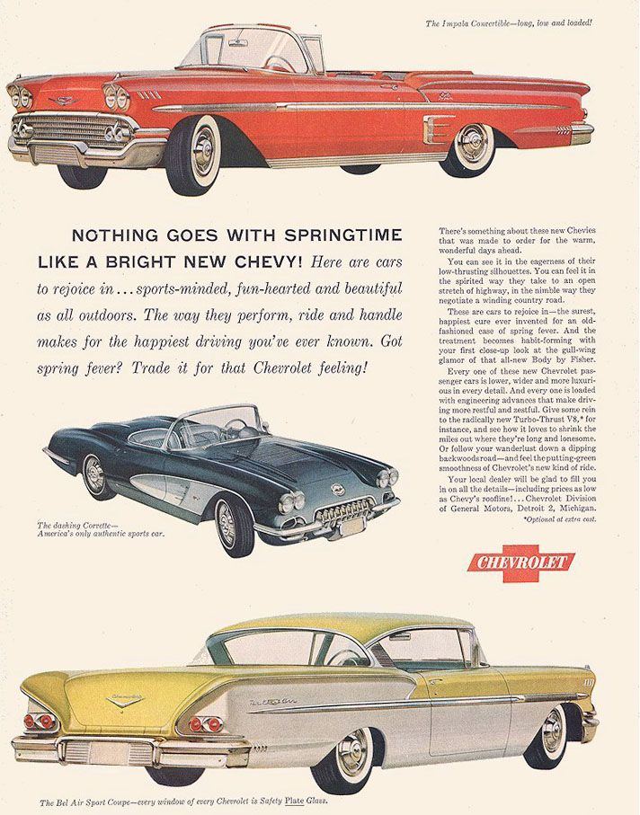 1958 Chevrolet Ad10 (With images) Car ads, Chevy