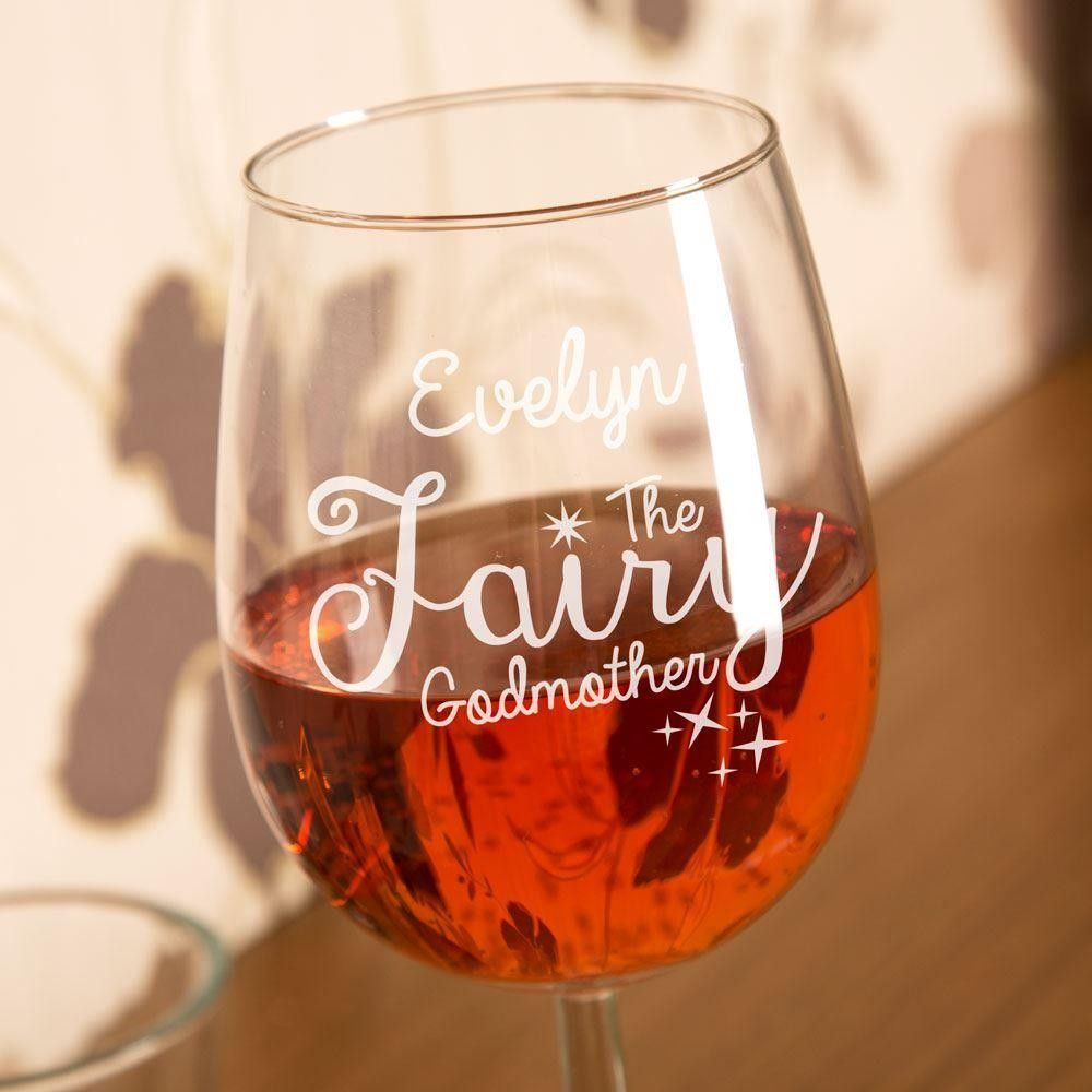 Bespoke Engraved Fairy Godmother Wine Glass Keepsakes Pinterest Bespoke