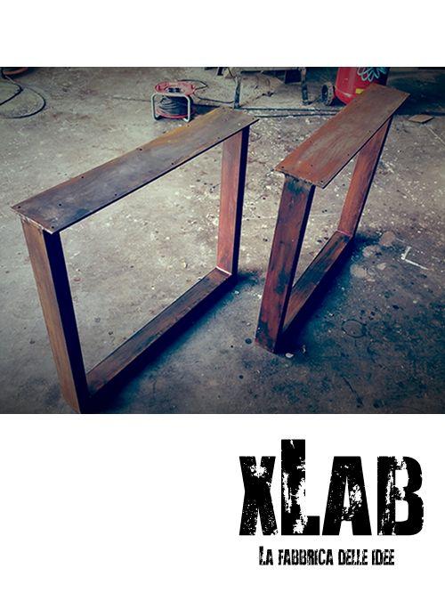 Gambe In Legno Per Tavoli.Nuove Gambe Per Tavolo Da Pranzo Realizzate In Ferro Arrugginito