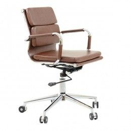 aspera 10 executive office nappa leather brown. Chester Padded Office Chair Vintage Brown Aspera 10 Executive Nappa Leather L