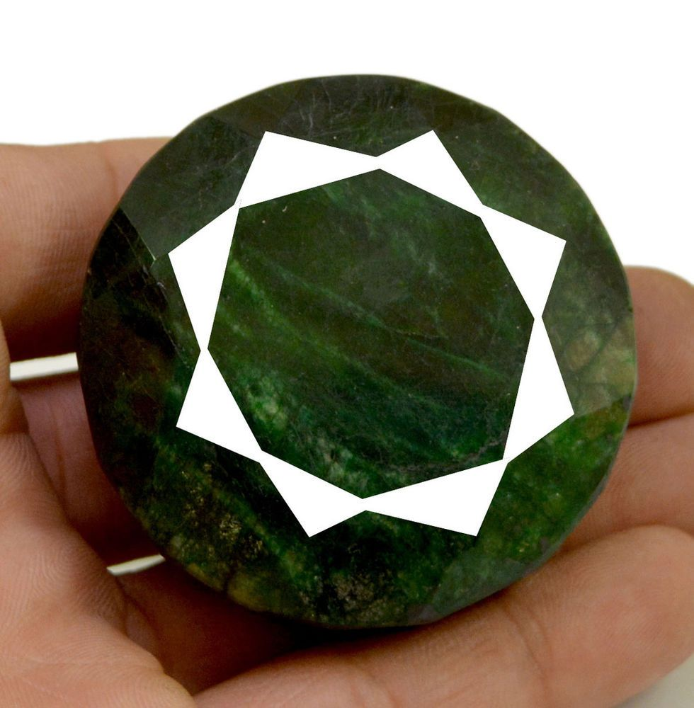 shape emerald big loose natural size green rare round gemstone pin