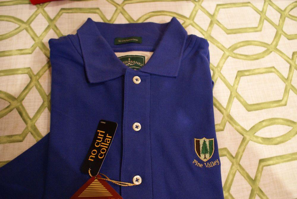 Pine Valley Country Club Mens Golf Shirt Size Medium Blue ...