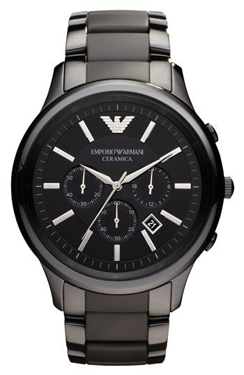 30b6c9828b8 Emporio Armani Large Ceramic Chronograph Watch available at  Nordstrom
