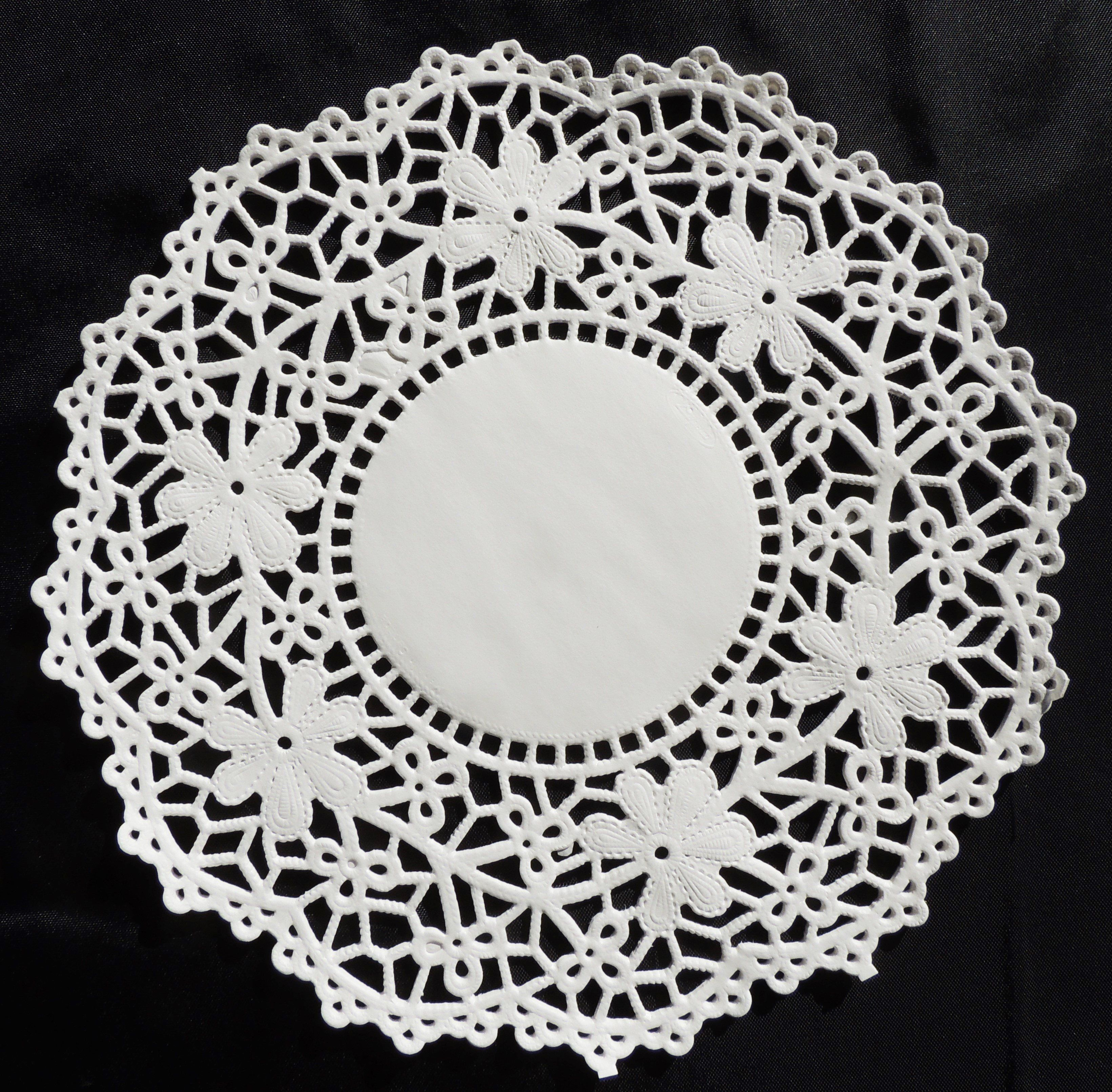 """75-12/"""" White CAMBRIDGE PAPER LACE DOILIES for Wedding Chargers Placemats"""