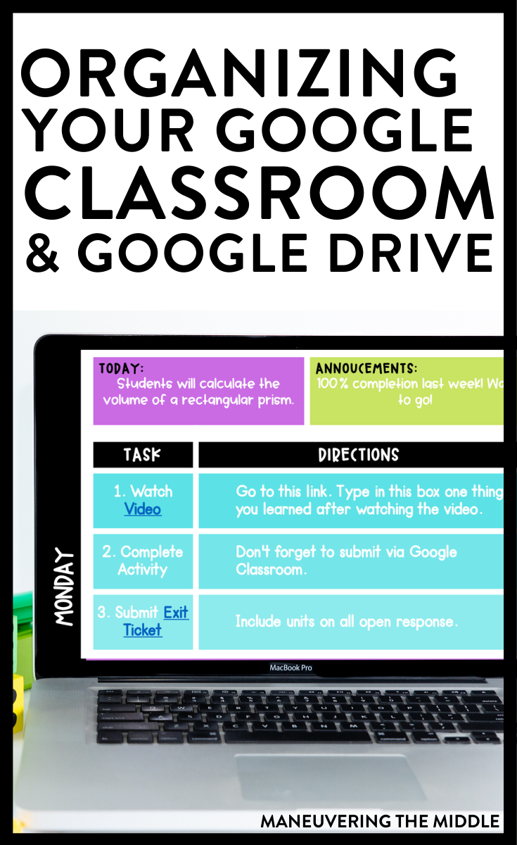 Since learning in now almost completely remote, it is time that we get our Google Drive and Google Classroom organized. Here are 5 google classroom tips!   maneuveringthemiddle.com