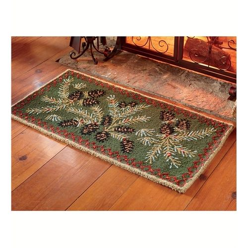 Plow 2 W X 4 L Pine Cone Hearth Rug Collection Accessories From