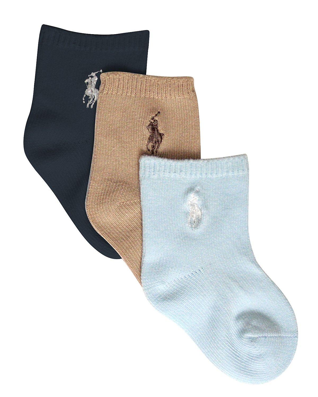 d805aeab Ralph Lauren Childrenswear Infant Boys' Crew Socks, 3 pack - Sizes 0 ...