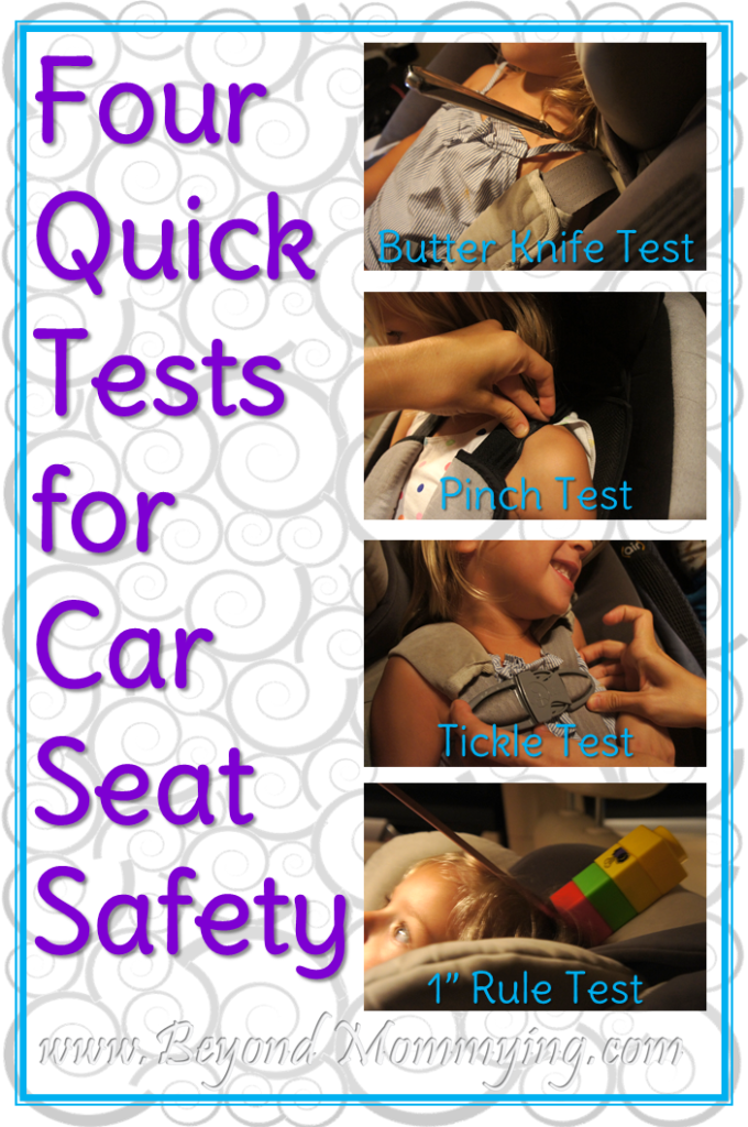 How To Use The Knife Test Pinch Tickle And 1 Inch Ensure Your Childs Car Seat Is Properly Tightened Fit Child For Safety