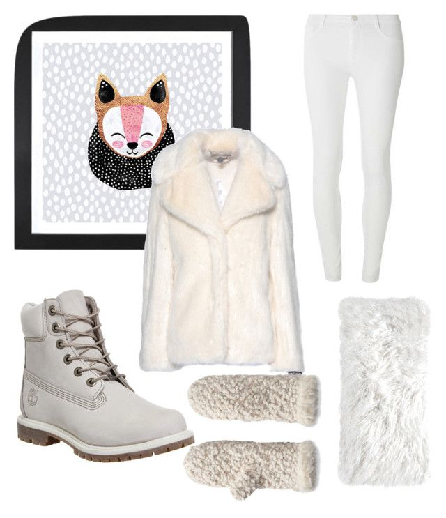"""Let it snow"" by hanna-nilson on Polyvore featuring Timberland, Pom Pom at Home, Dot & Bo, STELLA McCARTNEY, Dorothy Perkins and Muk Luks"