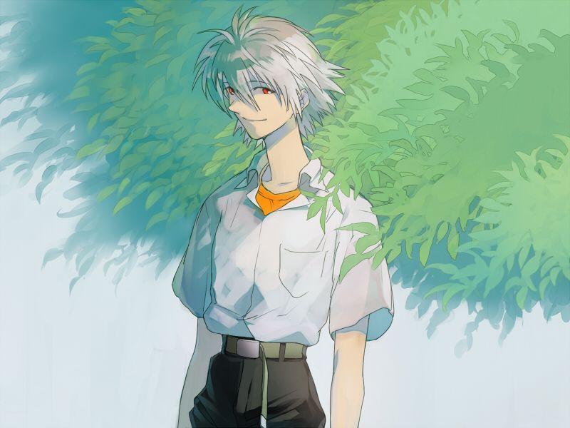 Kaworu Nagisa, Tree, Neon Genesis Evangelion, にゃんきちPixiv