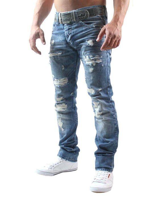Red Bridge Pantalones Rotos Para Hombres Vaqueros Denim Negro Jeans Hombre Ropa
