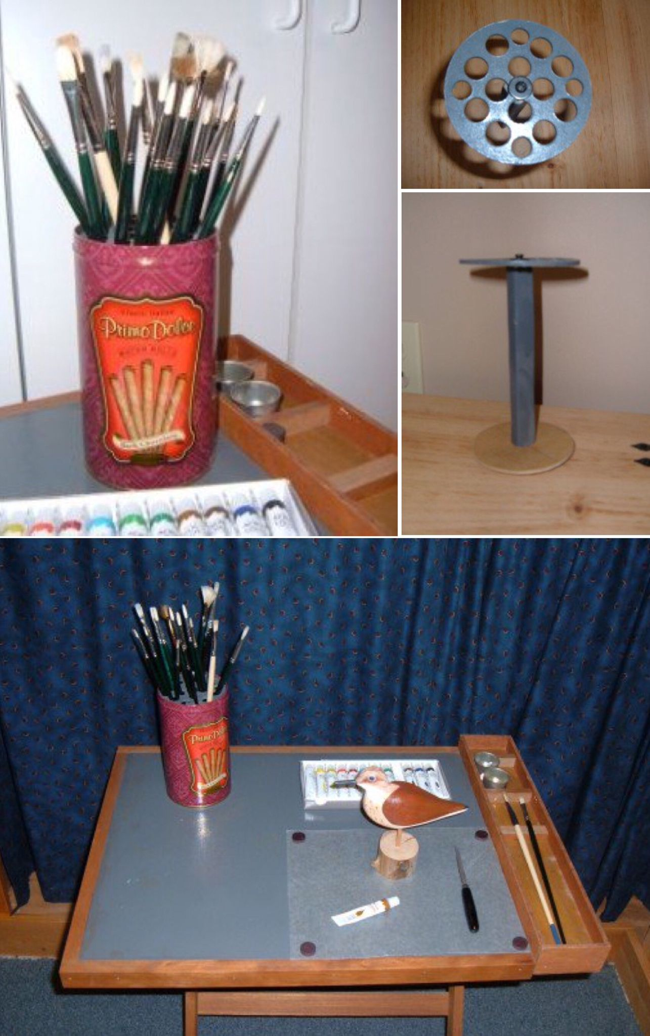 How to make a paint brush holder and portable crafter