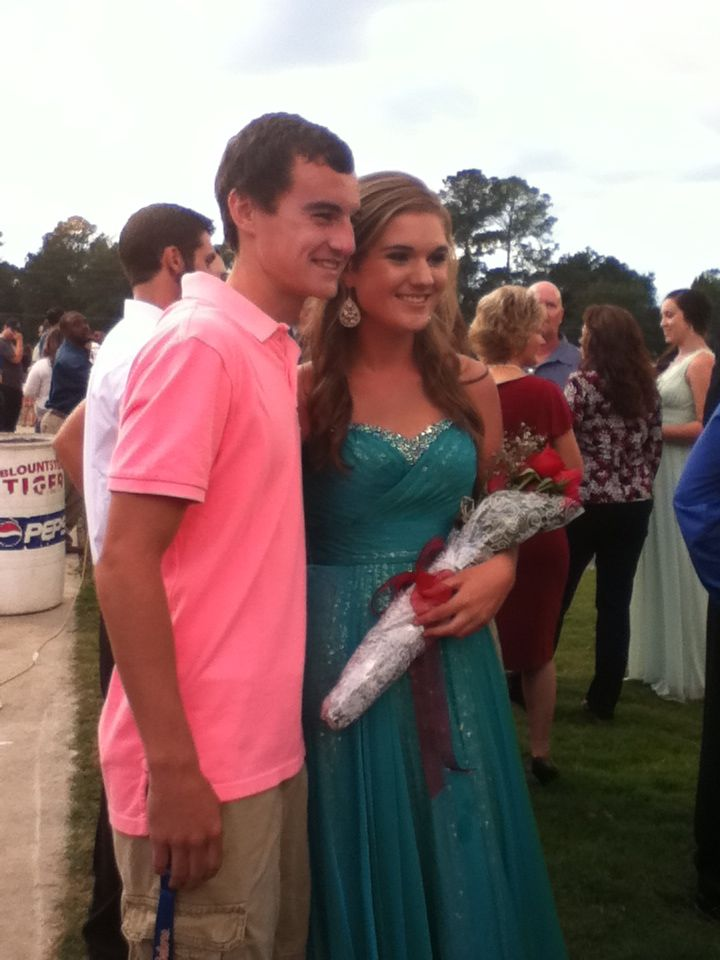 Missy, at Homecoming, when she won Homecoming Queen! She was so pretty!