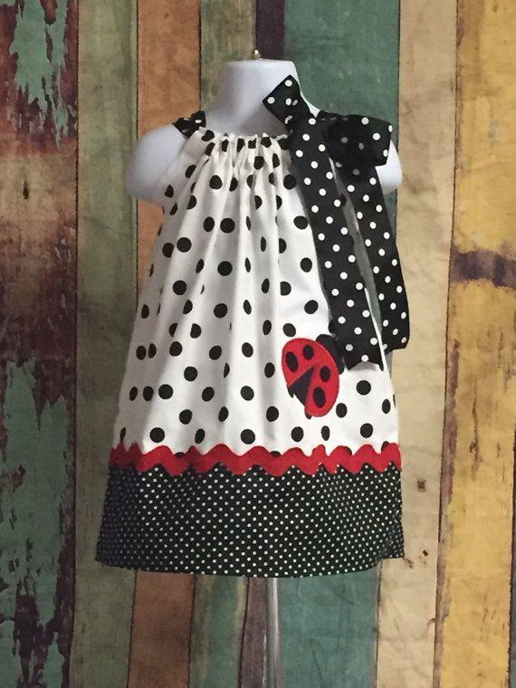 Ladybug Dress-Ladybug Pillowcase Dress-Girls Ladybug Dress-Toddler ...