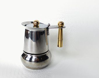 Italian Coffee Maker Small : Italian espresso maker GB inox 18 10 moka espresso single cup mini vintage 80s Guido Bergna ...