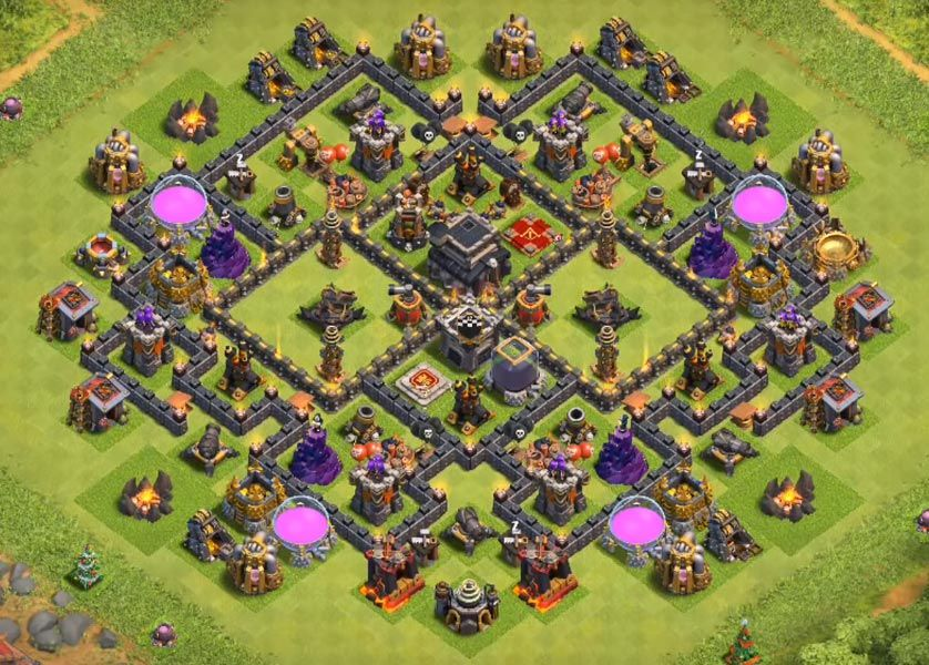 Coc Th 9 Best Base 4