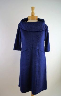 Sara Campbell Cowl Neck Dress, Made in America