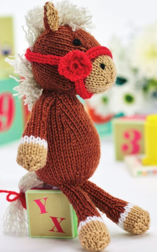 Free Toy Knitting Pattern for Theodore the Horse Amigurumi