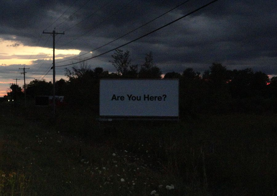 indistantdays:  We came across this billboard at dusk in the middle of nowhere.