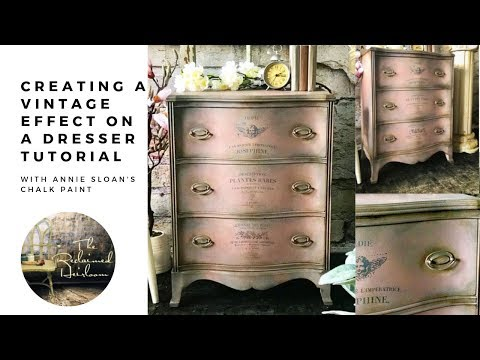 2 Creating A Vintage Effect Tutorial Using Annie Sloan Chalk Paint Youtube Furniture Painting Tutorial Annie Sloan Chalk Paint Chalk Paint