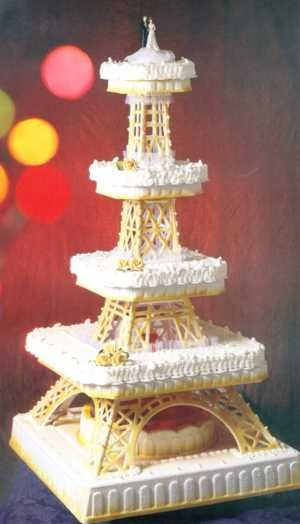 Eiffel Tower cake. ...    Discover French temptations for your event with www.louis-event.com