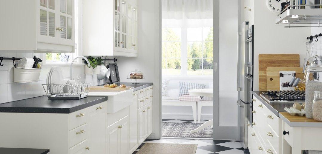 Ikea Landhaus Küche im eleganten Weiss IKEA Hacks Pinterest - küche ikea landhaus