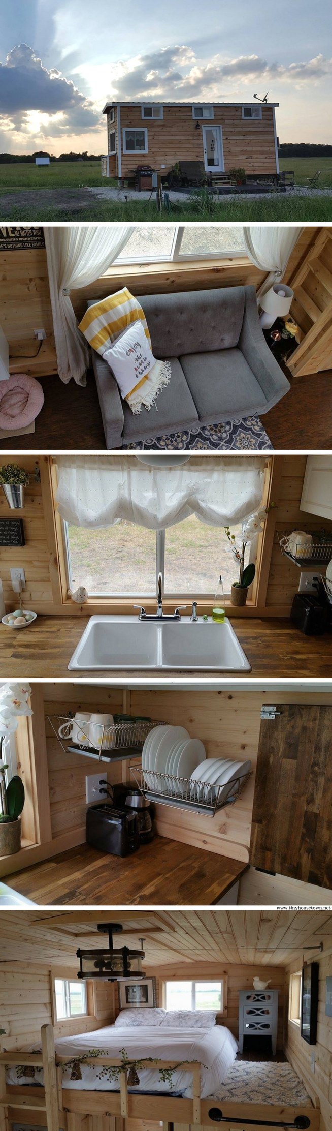 A tiny house in Texas The 340 sq ft home was featured on HGTVs
