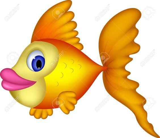 Cute Yellow Fish Cartoon Royalty Free Cliparts Vectors And Stock Fish Clipart Clip Art Cartoon Silhouette