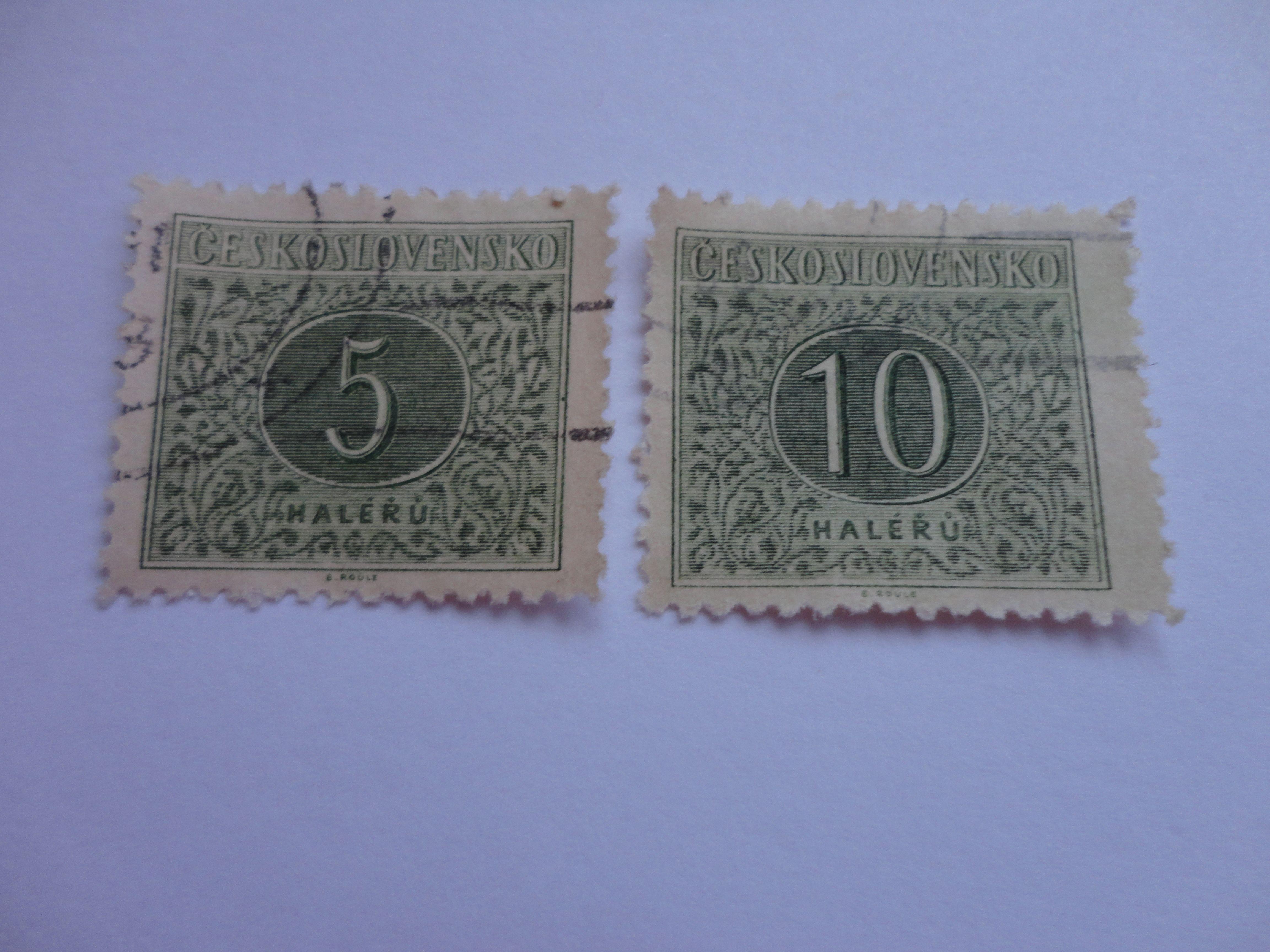 mailing letter format%0A       Haleru Old Ceskoslovensko Postage Stamp