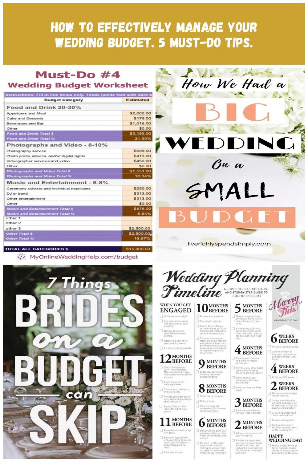 Making A Budget Spreadsheet For Your Wedding Spending Is Must Do Tip Number 4 For How To Manage Your Weddin Budget Spreadsheet Making A Budget Wedding Spending