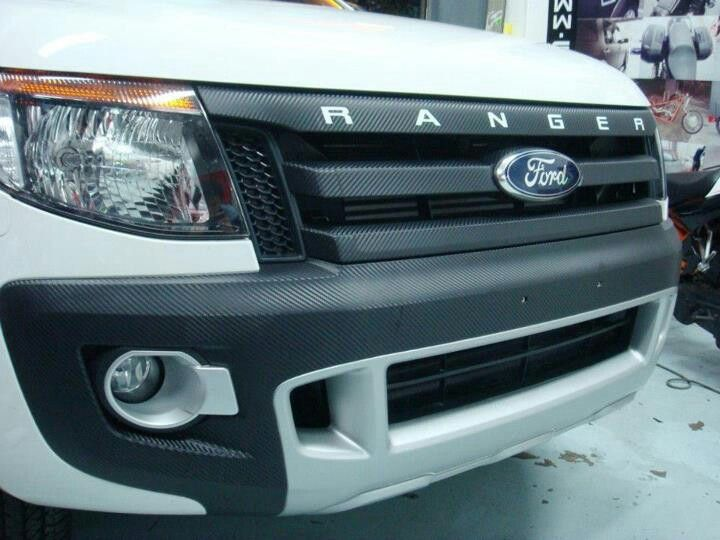 Black Grill Wrap Ford Ranger Ford Trucks Ford Rapter