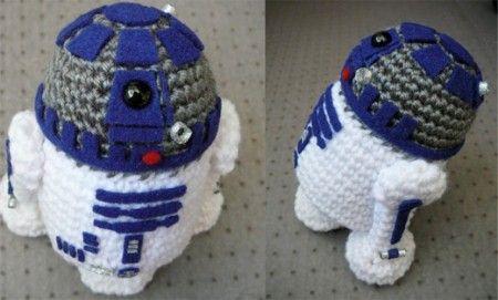 R2D2. Crochet and Felt | Haken baby/kids / Crochet Baby/kids | Pinterest