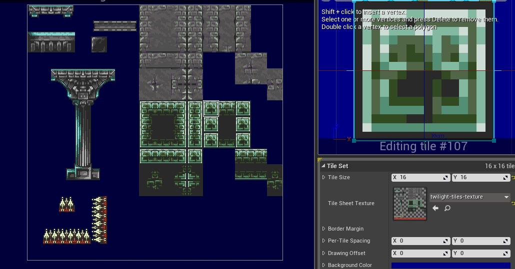 UE4 Tileset Editor for 2D Platformer | Tilesets | Tiles