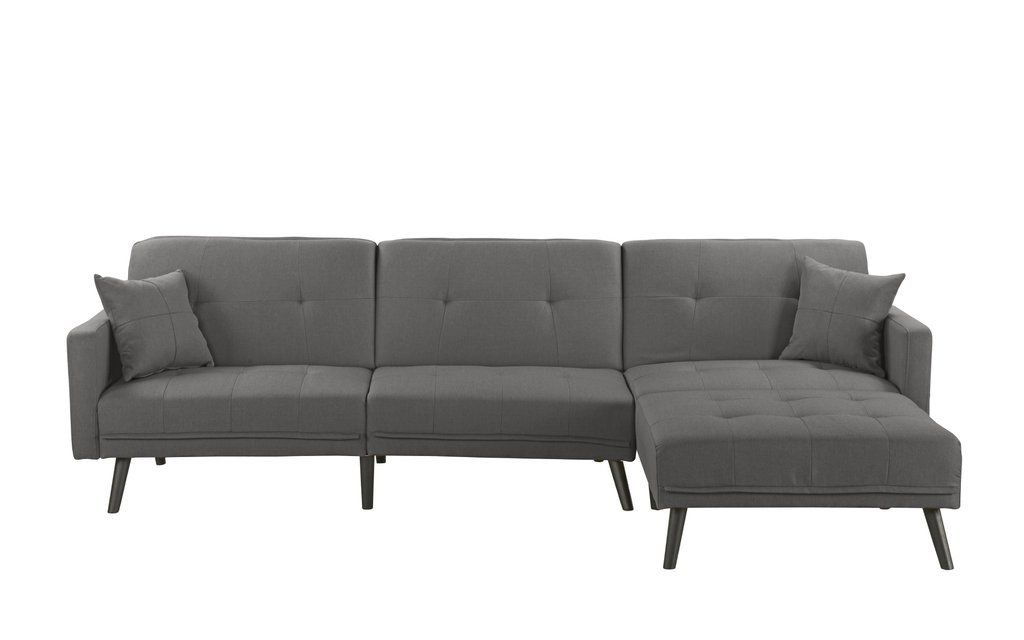 Cool Romulo Mid Century Modern Linen Sleeper Sectional Sofa With Forskolin Free Trial Chair Design Images Forskolin Free Trialorg