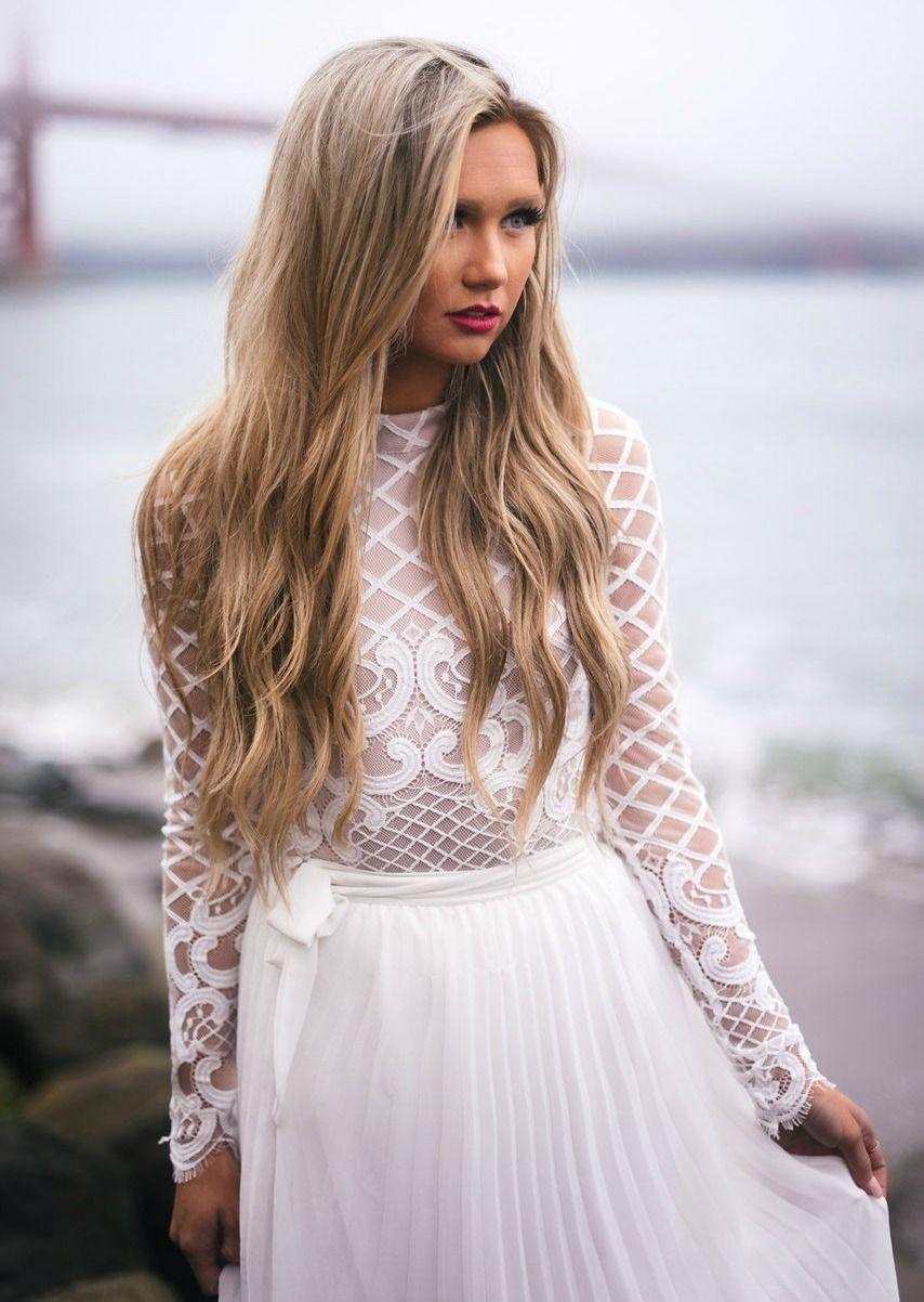 Wedding dress bodysuit  Enchanted Design Lace Bodysuit Top White  Bodysuit tops Modern