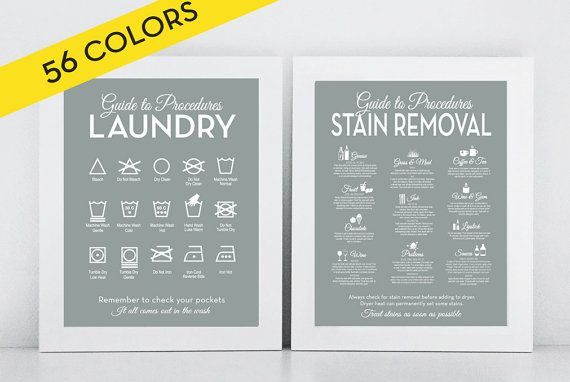 Set The Laundry And Stain Removal Modern By Letteredandlined