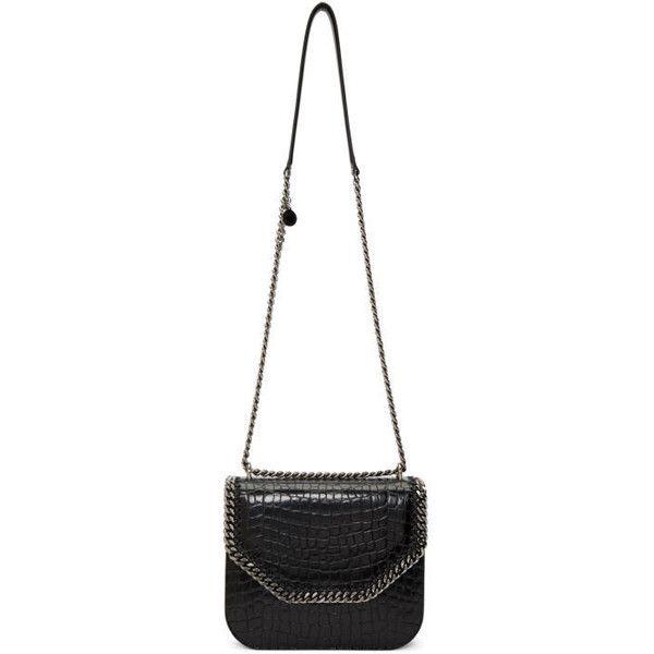 95befa4d908e Stella McCartney Black Croc Big Falabella Box Bag ( 1
