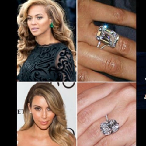 Battle Of The Bling Which Is Your Favourite Engagement Ring Beyonce Or Kim Kardashian Pheradiamonds Favorite Engagement Rings Engagement Engagement Rings