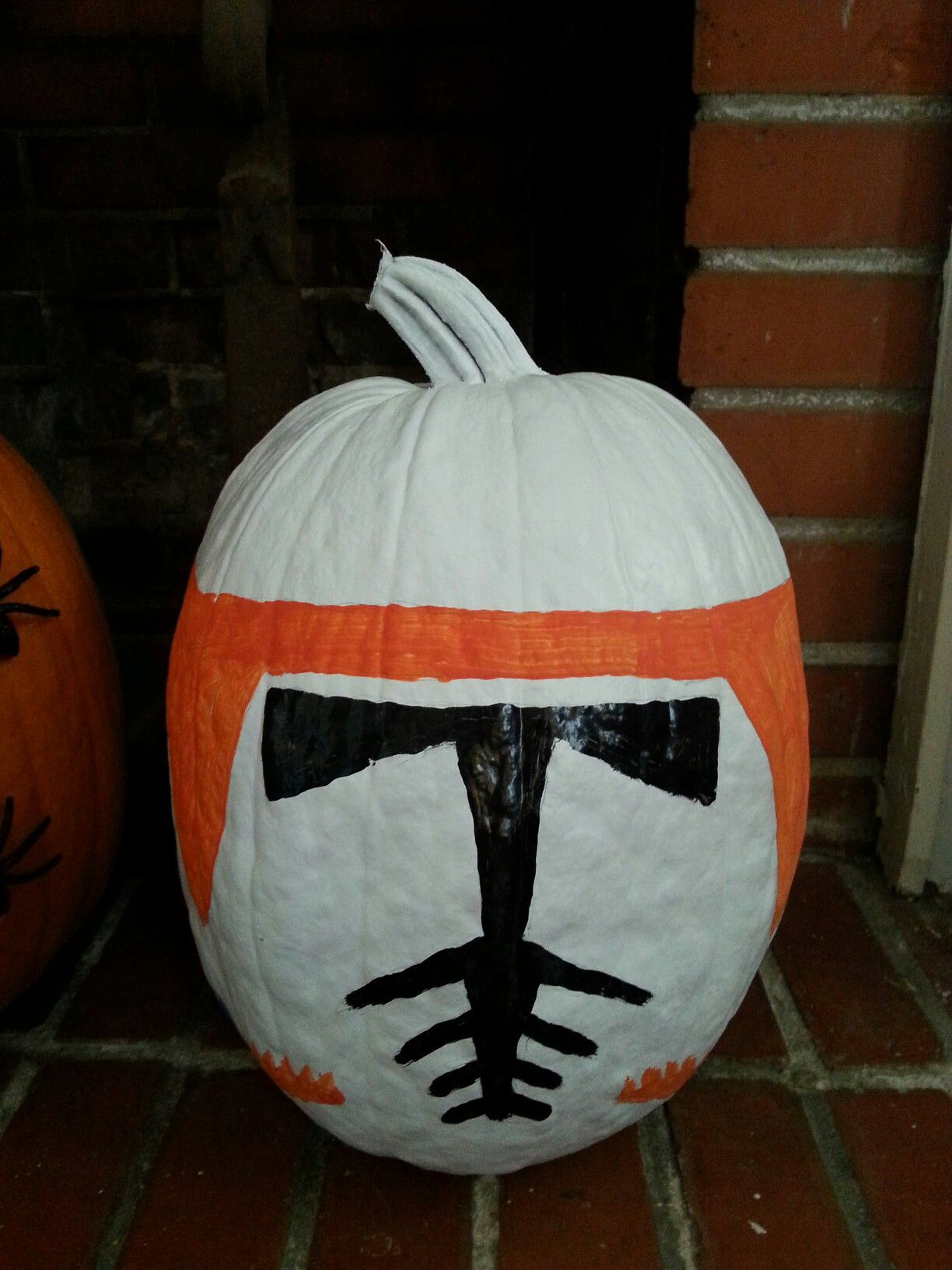 Commander Cody painted pumpkin Painted pumpkins