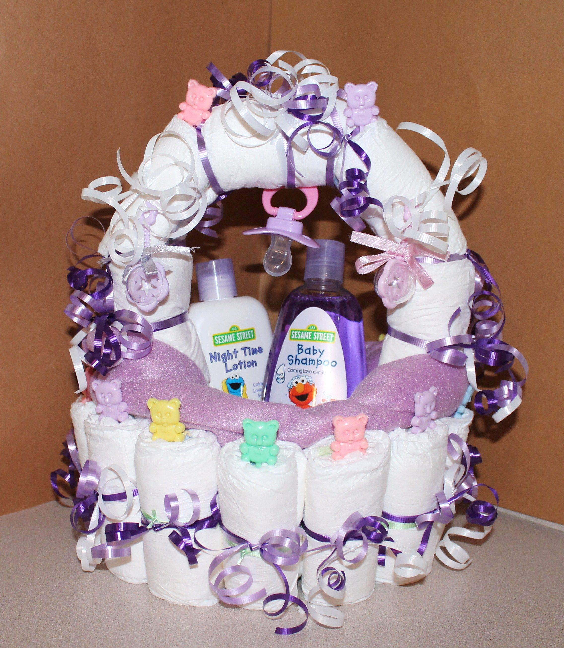 Mommy /& Me Baby Bump Belly Diaper Cake Baby Shower Centerpiece Gift Set Girl Boy