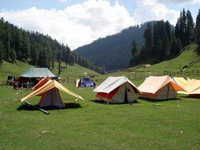 camping site at sonamarg,kashmir!