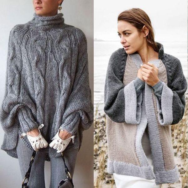 Вязаное пальто: женские длинные, короткие, крючком, с ...