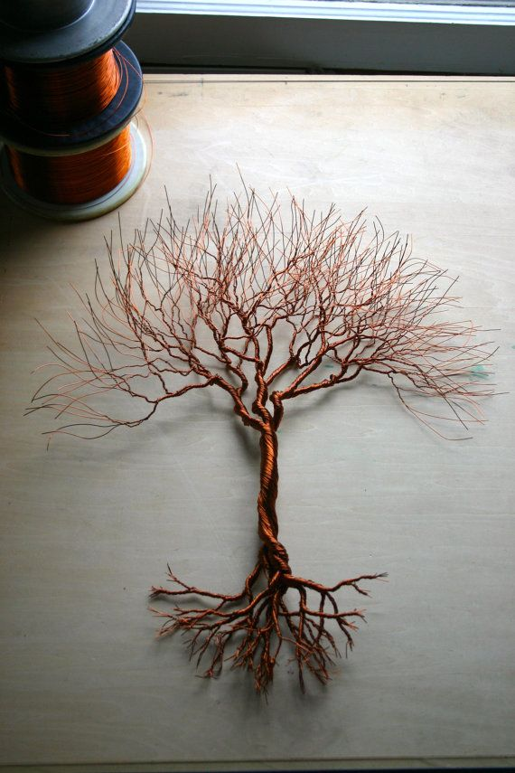 Medium Tree 17 X 15 Made From Copper Wire By