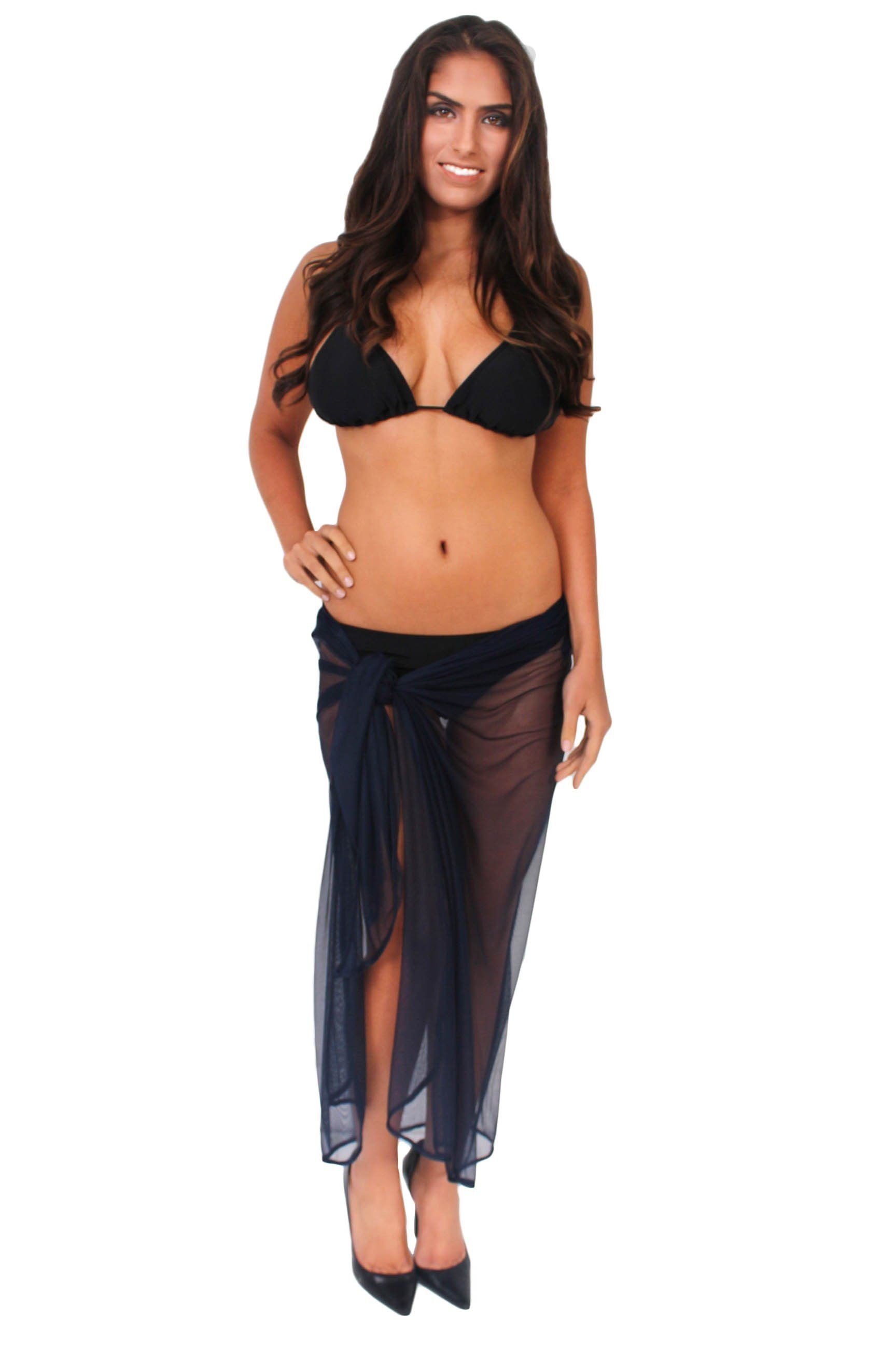 d8471265ef Women's Ultralight Long Mesh Sarong Cover Up Wrap Pareo Made in the USA