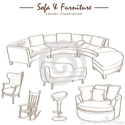 Modern Furniture Drawings how to draw sofa - بحث google | design | pinterest