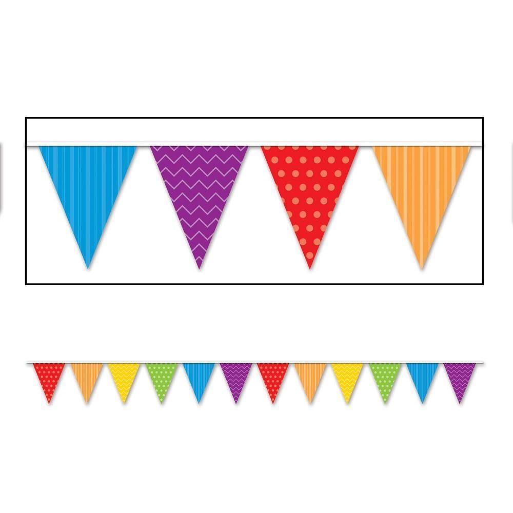 Beistle dots u stripes pennant banner ct pennant banners and