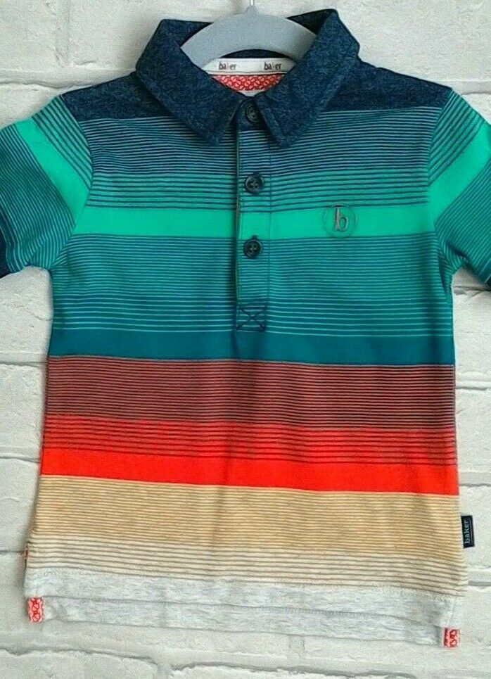 b1d270d5645674 Baby Boys Ted Baker Striped Polo Top T Shirt Size 12 - 18 Months  TedBaker
